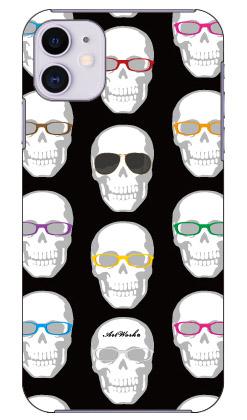 【送料無料】 スカルとメガネ 黒 design by ARTWORK / for iPhone 11/Apple 【Coverfull】【カバフル】【全面】【受注生産】【スマホケース】【ハードケース】アップル iphone11 iphone11 ケース iphone11 カバー アイフォーン11 ケース アイフォーン11 カバー
