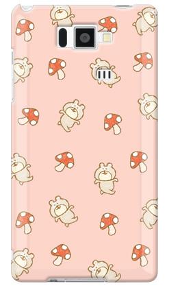 【送料無料】 uistore 「くまキノコ (Pink)」 / for AQUOS PHONE SERIE ISW16SH/au 【SECOND SKIN】au is16sh カバー is16sh ケース アクオスフォン カバー is16sh アクオスフォン ケース is16sh aquos phone is16sh カバー aquos phone is16sh