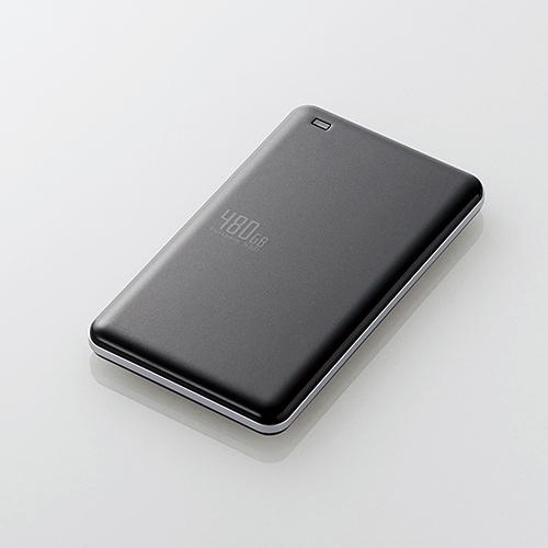 【送料無料】 ELECOM(エレコム) USB3.1(Gen1)対応外付けポータブルSSD ESD-ED0480GBK超軽量 名刺サイズ 高速 データ転送 持ち運び 最適 耐衝撃 耐振動 USB3.1 USBバスパワー パソコン 簡単接続 LEDランプ 省電力 高速SSD 外付け ポータブルSSD ハードディスク