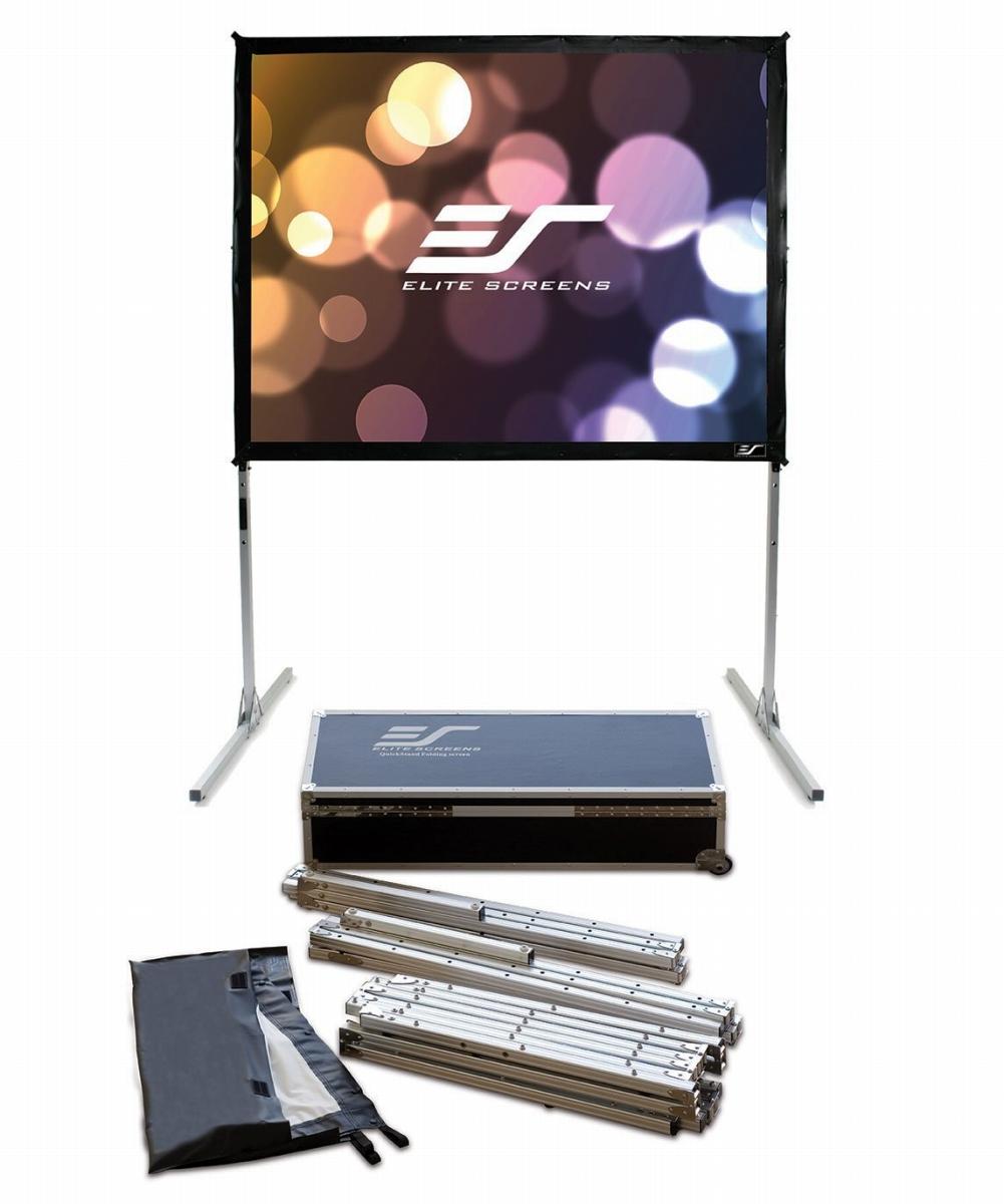 【送料無料】 エリートスクリーン プロジェクタースクリーン クイックスタンド 120インチ(4:3) シネホワイト素材 Q120V1スクリーン プロジェクター プロジェクタスクリーン ポータブル 持ち運び 固定スクリーン 移動式 プロジェクター・スクリーン