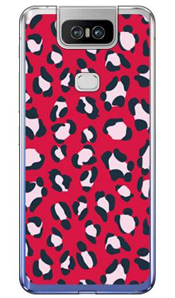 【送料無料】 Leopard レッド (ソフトTPUクリア) design by ROTM / for ZenFone 6 ZS630KL/MVNOスマホ(SIMフリー端末) 【SECOND SKIN】【ソフトケース】zenfone 6 ケース zenfone 6 カバー zs630kl ケース zs630kl カバー ゼンフォン6 ケース ゼンフォン6