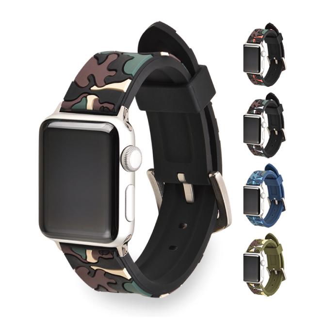 カモフラージュ柄Apple Watchベルト 送料無料 Apple Watch アップルウォッチ Camoflage belt カモフラージュ ベルト ラッピング無料 アーミー カモ 迷彩 オリジナル 一部予約 バンド 丈夫 シリコン 軽量 大人 ナイロン アップルウォッチストラップ 迷彩柄 美しい