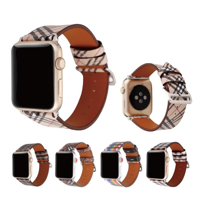 カラフルでかわいいデザインのApple Watchストラップ 送料無料 Apple Watch アップルウォッチ Microfiber 購入 luxury design belt マイクロファイバー ラグジュアリー デザイン タータンチェック柄 チェック柄 バンド 美しい オリジナル 本日限定 アップルウォッチストラップ ナイロン 高級 ベルト レインボー柄