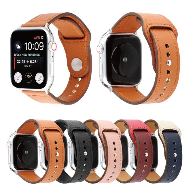 上質で滑らか そして 柔らかい本革仕様のApple Watchベルト 送料無料 Apple Watch アップルウォッチ Single button genuine leather belt シングル ボタン オリジナル 上質 ジェニュイン アップルウォッチストラップ バンド 柔らかい 本革 ベルト プレゼント 大人 ナイロン 滑らか メンズ 高級 当店一番人気 レザー 美しい