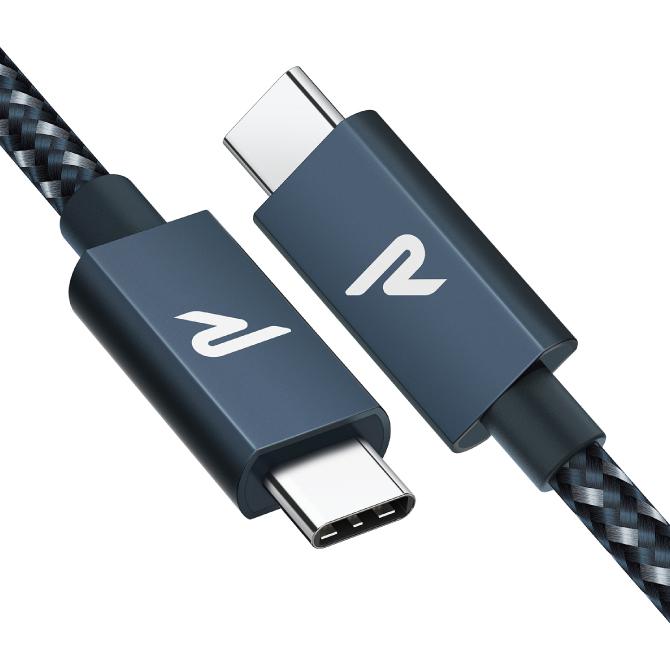 高速充電対応 PDやQC対応 のType-C to Type-Cケーブル 送料無料 RAMPOW RAD03 2m Navy Type-C Cable E-Mark 100W 20Gbps PD 人気 Nintendo スマートフォン カメラ スマホ QC MacBook 直送商品 5A iPad 高速充電 Pro 新作アイテム毎日更新 高速データ転送 Switch 急速充電 GoPro