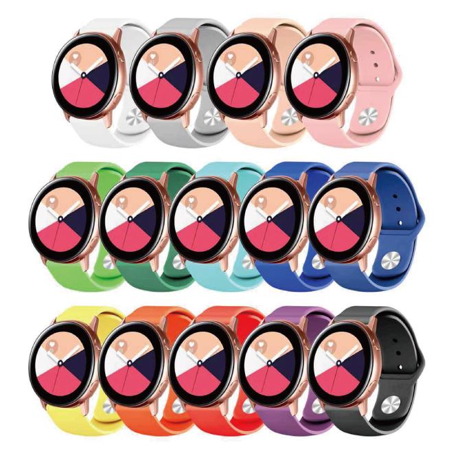 多くの20MMと22MMスマートウォッチに対応 送料無料 SH201109 Single color silicone belt シングル カラー シリコン ベルト 20MM 春の新作 Samsung スマートウォッチ サムスン 高品質 LG Huawei バンド スマート時計 Garmin 22MM 激安 ガーミン
