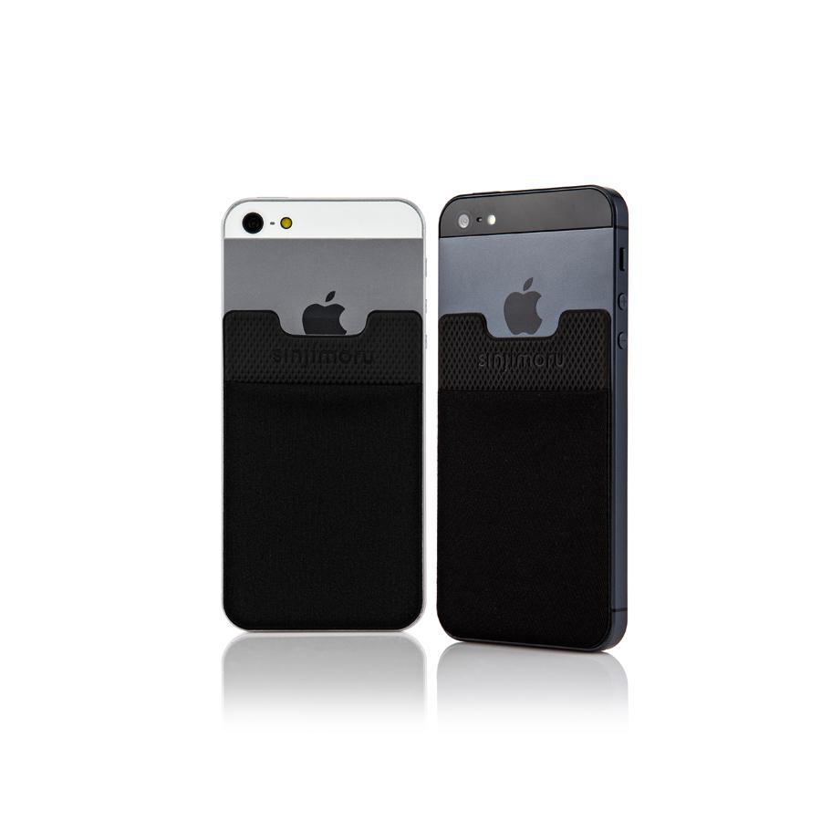 スマートフォンやタブレットなどに貼って剥がせるステッカーブルポケット 送料無料 ROOX ステッカーブルポケット 倉庫 Sinji Pouch Basic2 ブラック スマホアクセ icカード カード アイフォーンスマートフォン 便利 背面ポケット アイフォン 簡単 低廉 ステッカーポケット iPhone 収納ポケット 激安 人気 スマホ
