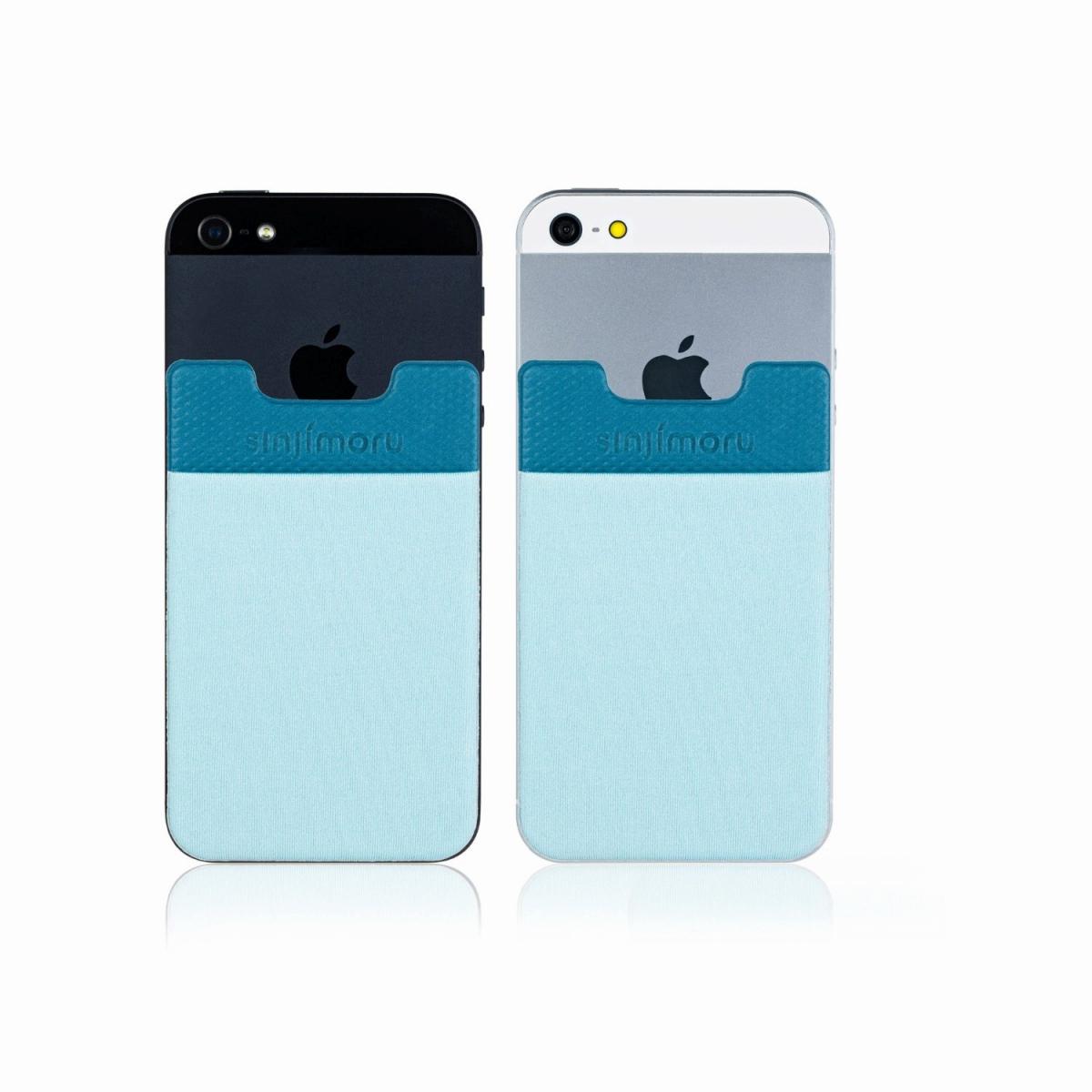 激安挑戦中 スマートフォンやタブレットなどに貼って剥がせるステッカーブルポケット 送料無料 ROOX ステッカーブルポケット Sinji Pouch Basic2 ライトブルー スマホアクセ マーケティング icカード カード スマホ 簡単 収納ポケット iPhone 便利 激安 アイフォン ステッカーポケット 人気 アイフォーンスマートフォン 背面ポケット