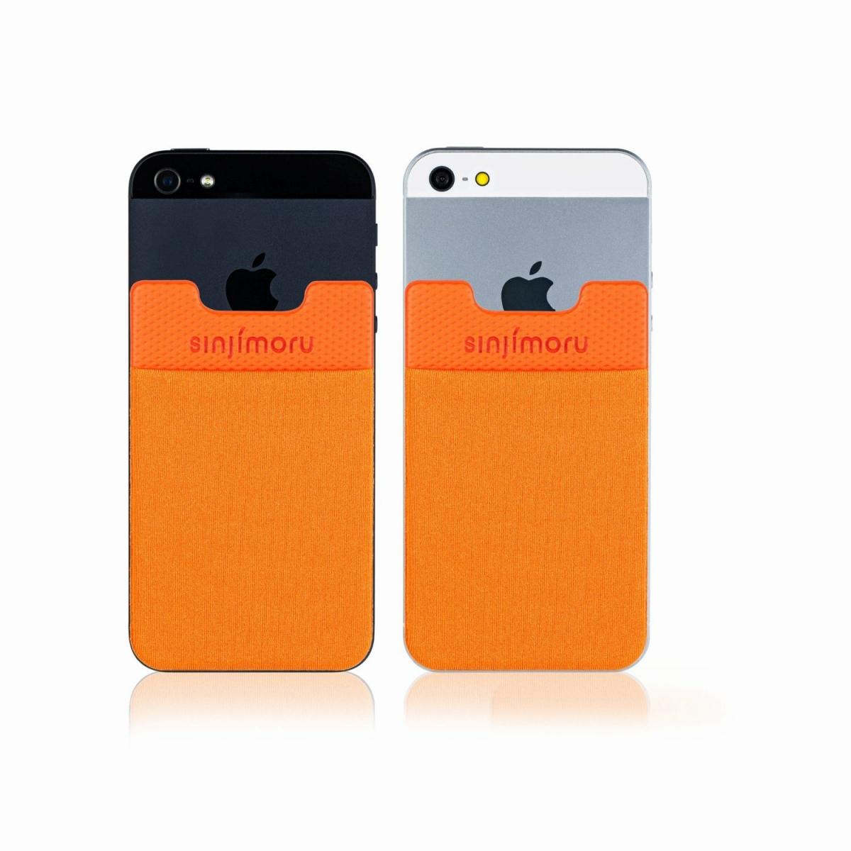 スマートフォンやタブレットなどに貼って剥がせるステッカーブルポケット 送料無料 ROOX ステッカーブルポケット Sinji Pouch Basic2 オレンジ スマホアクセ icカード カード 背面ポケット アイフォン 激安 希少 ステッカーポケット iPhone アイフォーンスマートフォン 収納ポケット 人気 サービス 便利 簡単 スマホ