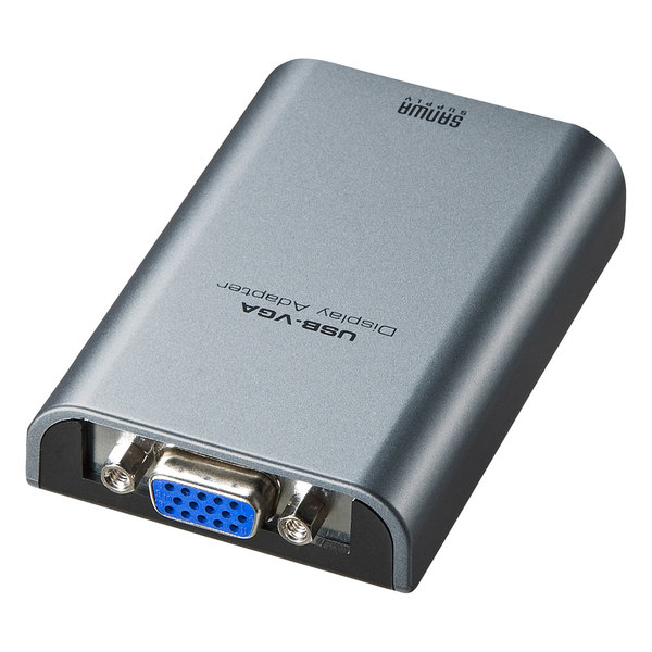 USB-VGA外付けディスプレイ増設アダプタ 送料無料 SANWA SUPPLY サンワサプライ USB-VGAディスプレイ変換アダプタ AD-USB24VGAパソコンのUSBポート USB2.0 USB3.0 VGA ディスプレイ用 ポート 新作通販 USBポー 5%OFF アダプタ ディスプレイ 接続できる ノートPC ノートパソコン NetBook