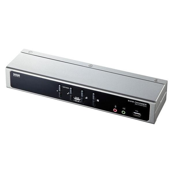 【送料無料】 SANWA SUPPLY(サンワサプライ) デュアルリンクDVI対応パソコン自動切替器 (4:1) SW-KVM4HDCNパソコン切替器 DVIディスプレイ対応 デュアルリンク dvi対応 パソコン 自動切替器 キーボード マウス ディスプレイ 4台 パソコン 切り替えusb
