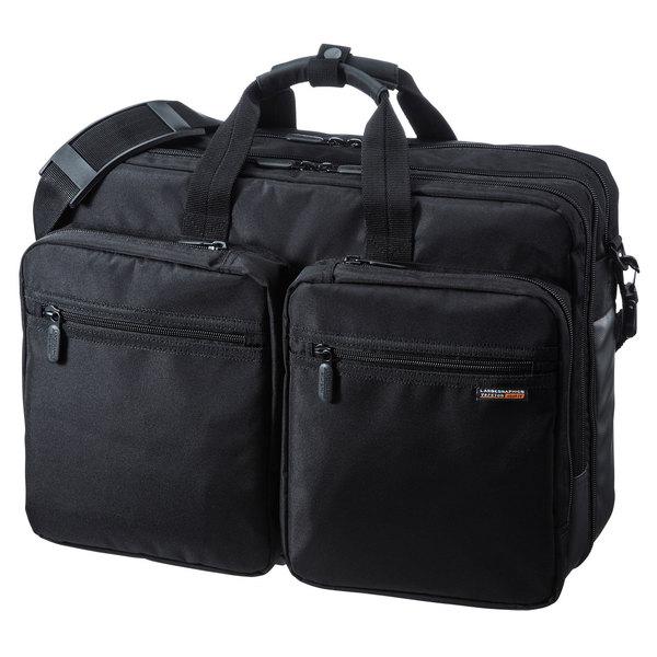 【送料無料】 SANWA SUPPLY(サンワサプライ) 3WAYビジネスバッグ(出張用・大型) BAG-3WAY22BKリュック バックパック ザック ショルダー ショルダーバッグ 手提げ 手提げバッグ 3WAY ビジネスバッグ マチ拡張 大容量 書類収納 ダブルタイプ キャリーサポーター