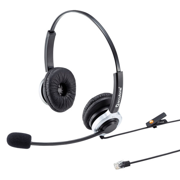 【送料無料】 SANWA SUPPLY(サンワサプライ) 電話用ヘッドセット(両耳タイプ) MM-HSRJ01