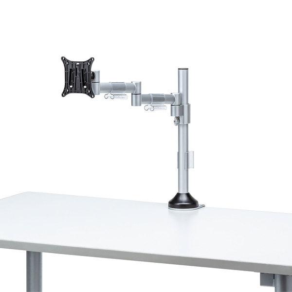 【送料無料】 SANWA SUPPLY(サンワサプライ) 水平多関節液晶モニタアーム(H420 1面) CR-LA1801水平空間 全方向 自由 高さ 固定 調節 クランプ式 天板固定 VESA規格 関節 硬さ調節 液晶 ディスプレイ ケーブル ケーブルホルダー ディスプレイ取り付け