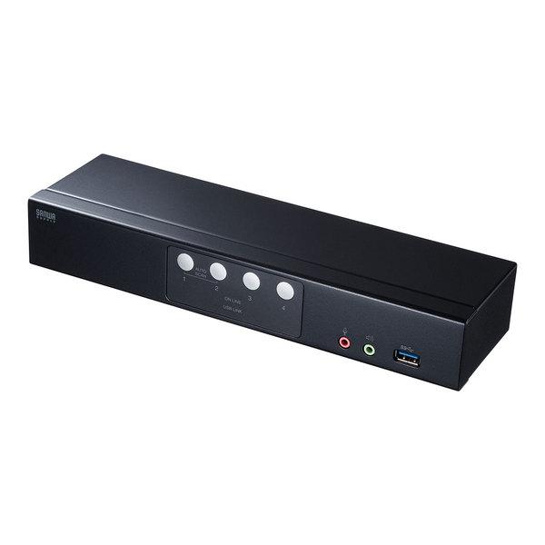 【送料無料】 SANWA SUPPLY(サンワサプライ) DisplayPort対応パソコン自動切替器(4:1) SW-KVM4HDPUDisplayPortディスプレイ USBキーボード USBマウス パソコン 切り替え 4K フルHD HDCP対応 地デジ ブルーレイメディア USB3.1 単独 切り替え スピーカー マイク 共有