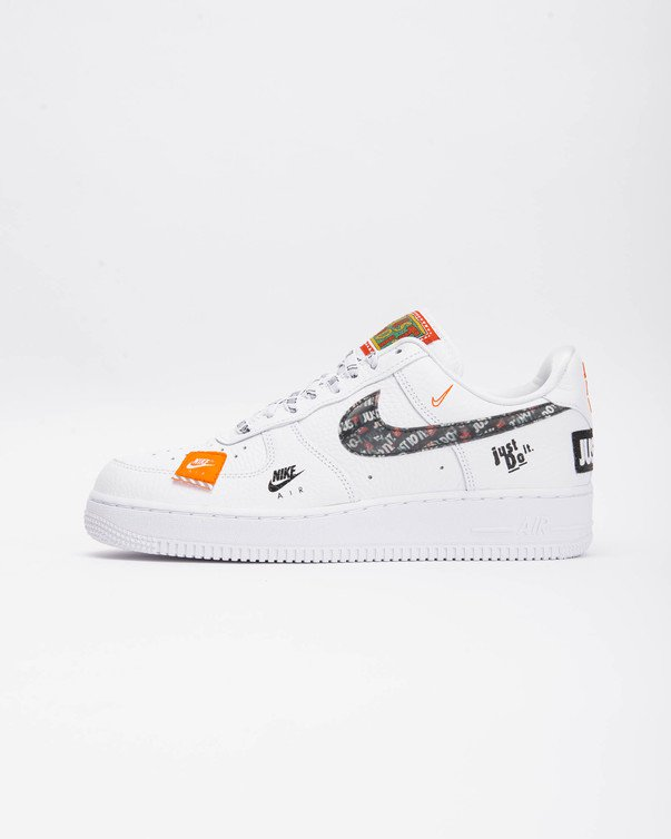 Nike Air Force 1 '07 Just Do It WhiteBlack Total Orange