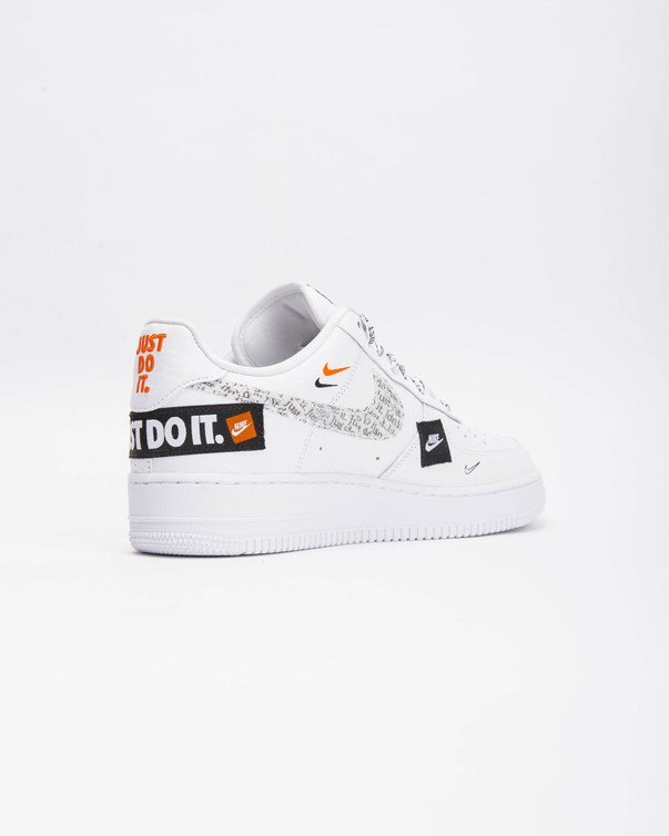 sports shoes 22d5f deee4 Men's men store-limited NIKE AIR FORCE 1 07 PRM JUST DO IT  WHITE/WHITE-BLACK-TOTAL ORANGE AR7719-100 Nike air force 1 07 premium JUST  DO IT orange ...