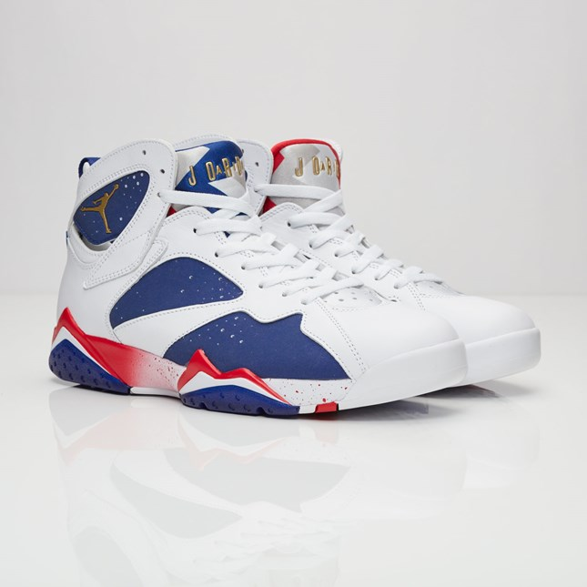 brand new d94b6 ce073 Store-limited men's men Nike Jordan Brand Air Jordan 7 Retro White Metallic  Gold Coin Deep Royal Blue 304,775-123 Nike Jordan 7 nostalgic white blue ...