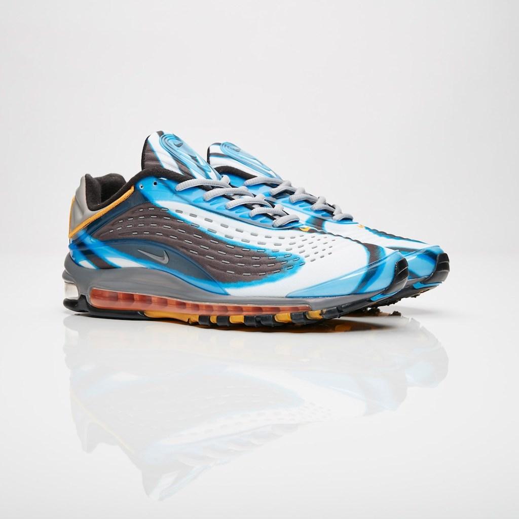 【代金引換不可】 送料無料 Men's メンズ 店舗限定 Nike Sportswear Air Max Deluxe Photo Blue/Wolf Grey-Orange AJ7831-401 ナイキ スポーツウェア エアマックス デラックス ブルー グレー オレンジ アパレル ファッション