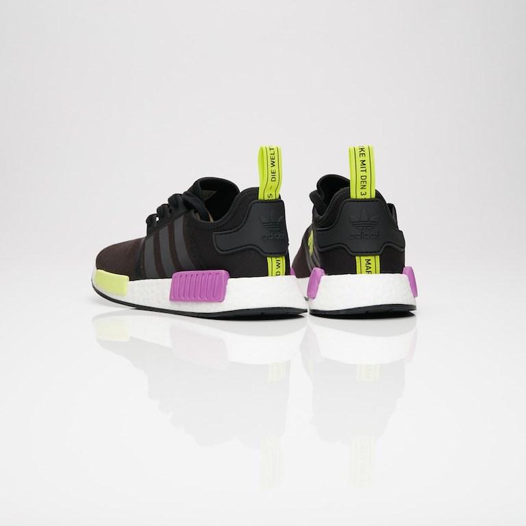 【代金引換不可】 送料無料 Men's メンズ 店舗限定 Adidas Originals NMD_R1 Core Black/Core Black/Shock Purple D96627 アディダス オリジナル ノマド R1 ブラック イエロー パープル アパレル ファッション