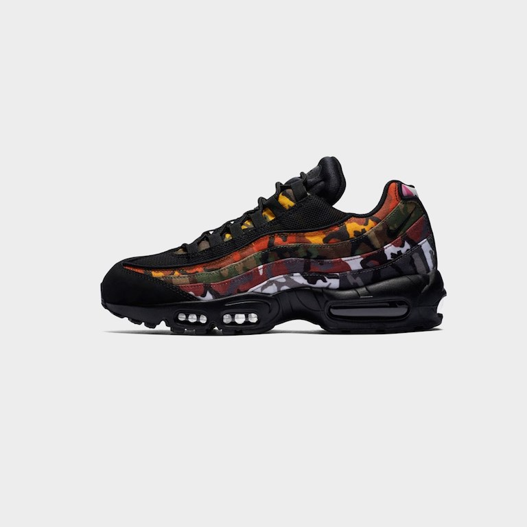 Men's men store limited Nike Sportswear Air Max 95 ERDL Party BlackMulti color AR4473 001 Kie Ney AMAX 95 camouflage multicolored apparel fashion