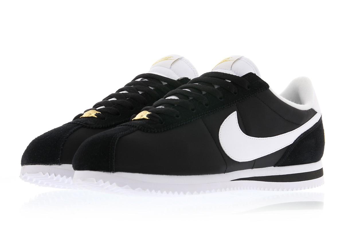 【代金引換不可】 送料無料 Men's メンズ 店舗限定 Nike CORTEZ BASIC NYLON PREMIUM COMPTON HIPHOP 902804-001 Black/White-Metalic Gold ナイキ コルテッツ ベーシック ナイロン プレミアム コンプトン シューズ スニーカー 靴 人気