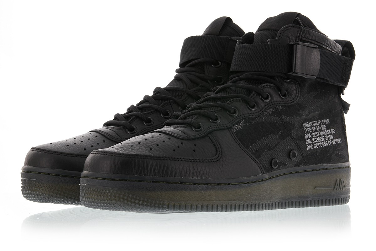 popular stores the latest innovative design Men's men store-limited NIKE SPECIAL FIELD AIR FORCE 1 MID  Black/Black-Cargo Khaki AA7345-001 Nike special field air force 1 MID black  khaki boots ...