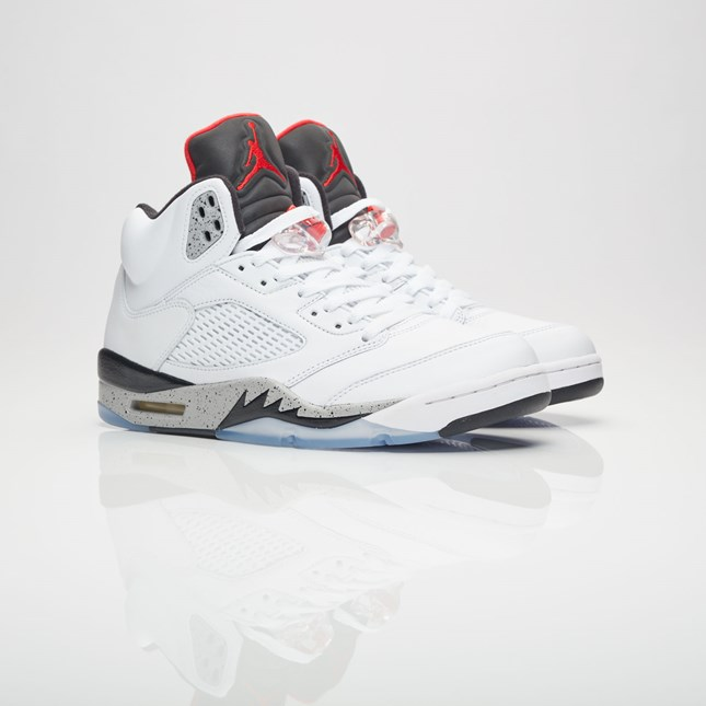 reputable site 610b2 91180 Men's men store-limited Brand Jordan Air Jordan 5 Retro White/University  Red/Black/Matte Silver 136,027-104 Jordan brand Nike Air Jordan 5 nostalgic  ...