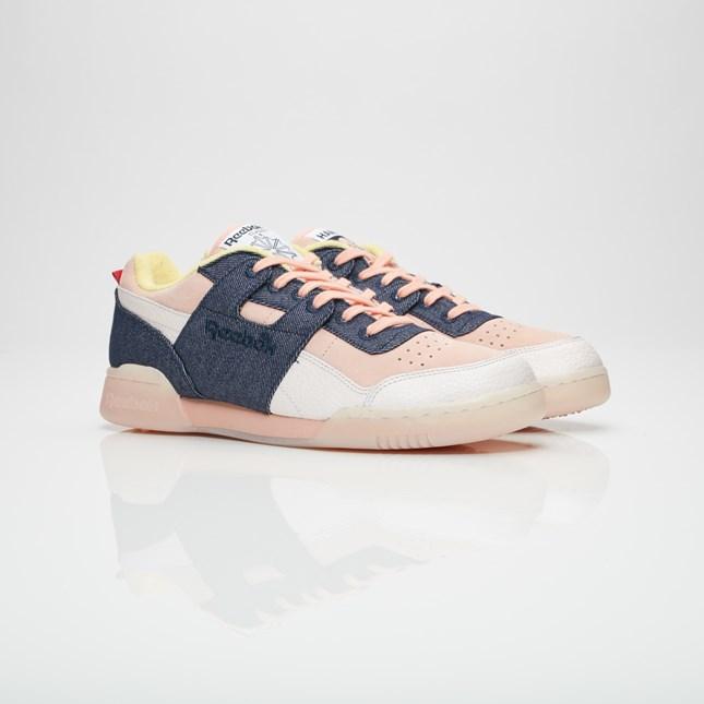 【代金引換不可】 送料無料 Men's メンズ 店舗限定 Reebok classics Workout Lo Plus x Hanon Mine/Pink/Excellent BS7771 リーボック クラシックス ワークアウト ロー プラス x ハノン ピンク ネイビー ホワイト 靴 スニーカー アパレル ファッション