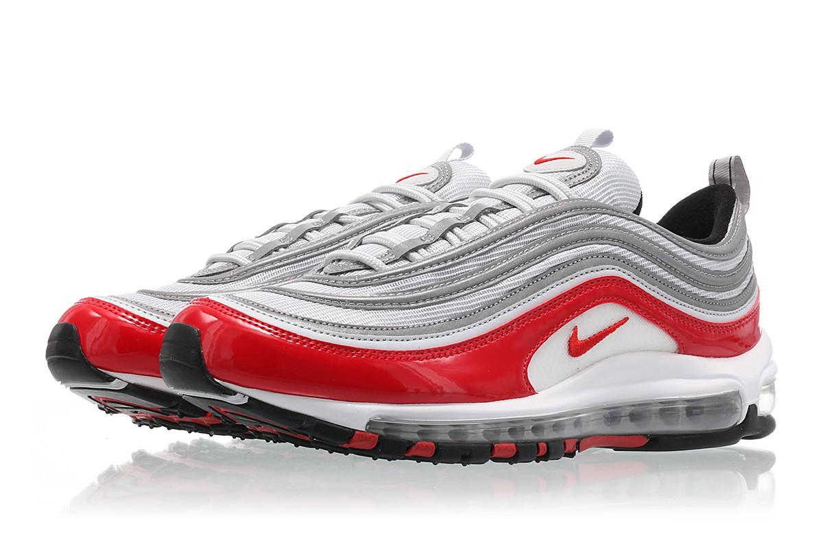【代金引換不可】 送料無料 Men's メンズ 店舗限定 NIKE AIR MAX 97 Pure Platinum/University Red-Black-White 921826-009 ナイキ エアマックス 97 レッド ブラックホワイト 靴 スニーカー アパレル ファッション