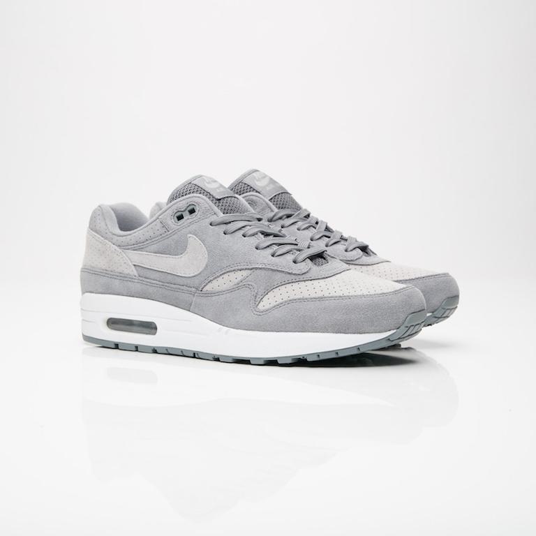 【代金引換不可】 送料無料 Men's メンズ 店舗限定 Nike Sportswear Air Max 1 Premium Cool Grey/Wolf Grey/White 875844-005 ナイキ エアマックス 1 プレミアム グレー ホワイト 靴 スニーカー アパレル ファッション