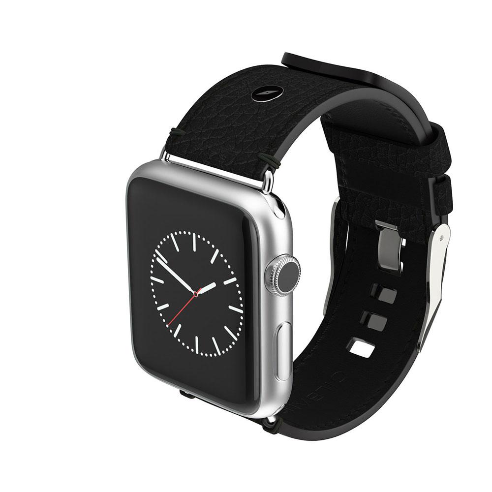 【正規販売代理店】 WATCH STRAP SCOTTS Black/Brown 腕時計バンド 牛革 レザー Apple Wacth 458039529