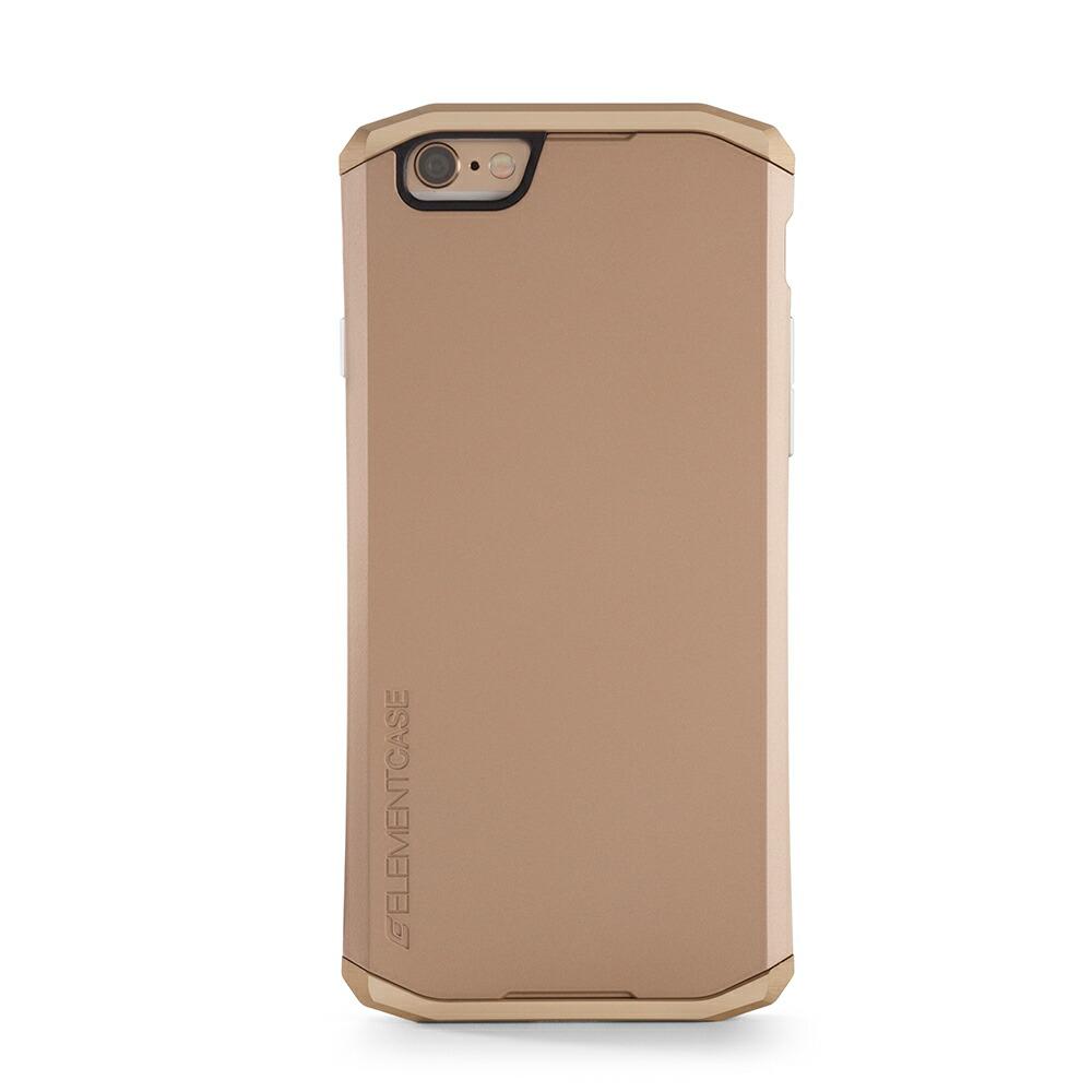【正規販売代理店】 ELEMENTCASE エレメントケース SOLACE for iPhone 6 アイフォン 6用 耐衝撃ケース Gold 耐衝撃 軽量 スリム