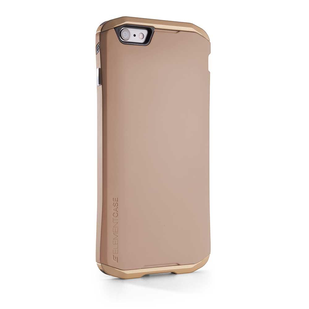【正規販売代理店】 ELEMENTCASE エレメントケース SOLACE for iPhone 6 アイフォン 6用 耐衝撃ケース Gold 耐衝撃