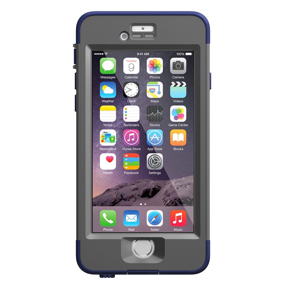 【正規販売代理店】 Lifeproof ライフプルーフ nuud for iPhone 6 アイフォン6用 耐衝撃ケース Blue 耐衝撃 防水 防塵 ミルスペック IP68 指紋認証 補償サービス付