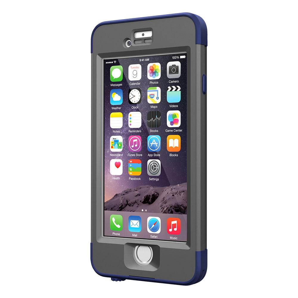 【正規販売代理店】 Lifeproof ライフプルーフ nuud ガラス保護フィルムセット for iPhone 6 アイフォン6用 耐衝撃ケース Blue 耐衝撃 防水 防塵 ミルスペック IP68 指紋認証 補償サービス付