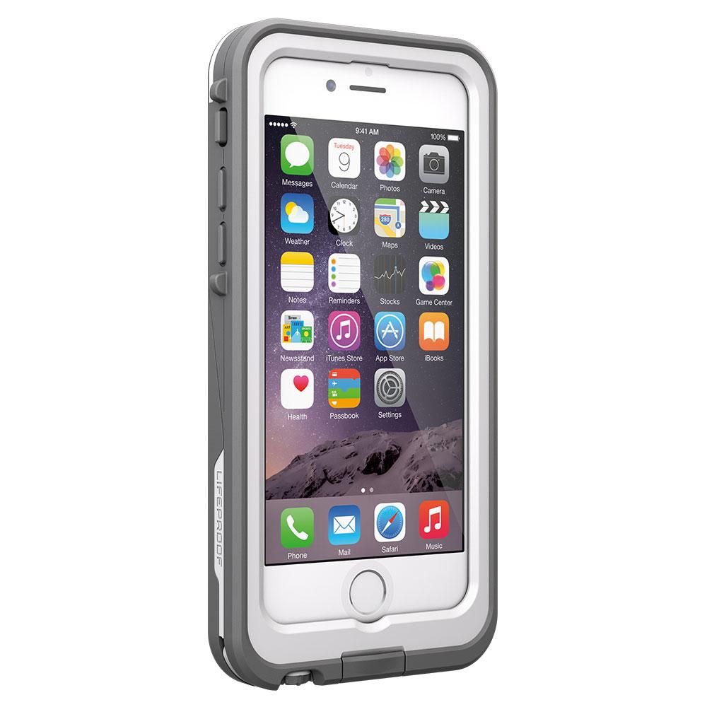 【正規販売代理店】 Lifeproof ライフプルーフ fre Power Battery Case for iPhone 6 アイフォン6用 耐衝撃ケース White 耐衝撃 防水 防塵 ミルスペック IP68 指紋認証 補償サービス付