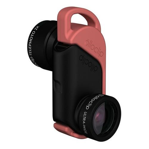 【正規販売代理店】 《 olloclip 》ACTIVE LENS for iPhone 6/6 Plus : Black 【 クリップ式 / レンズ / 2倍望遠 / 広角 】 《 オロクリップ アイフォン6/6プラス 》