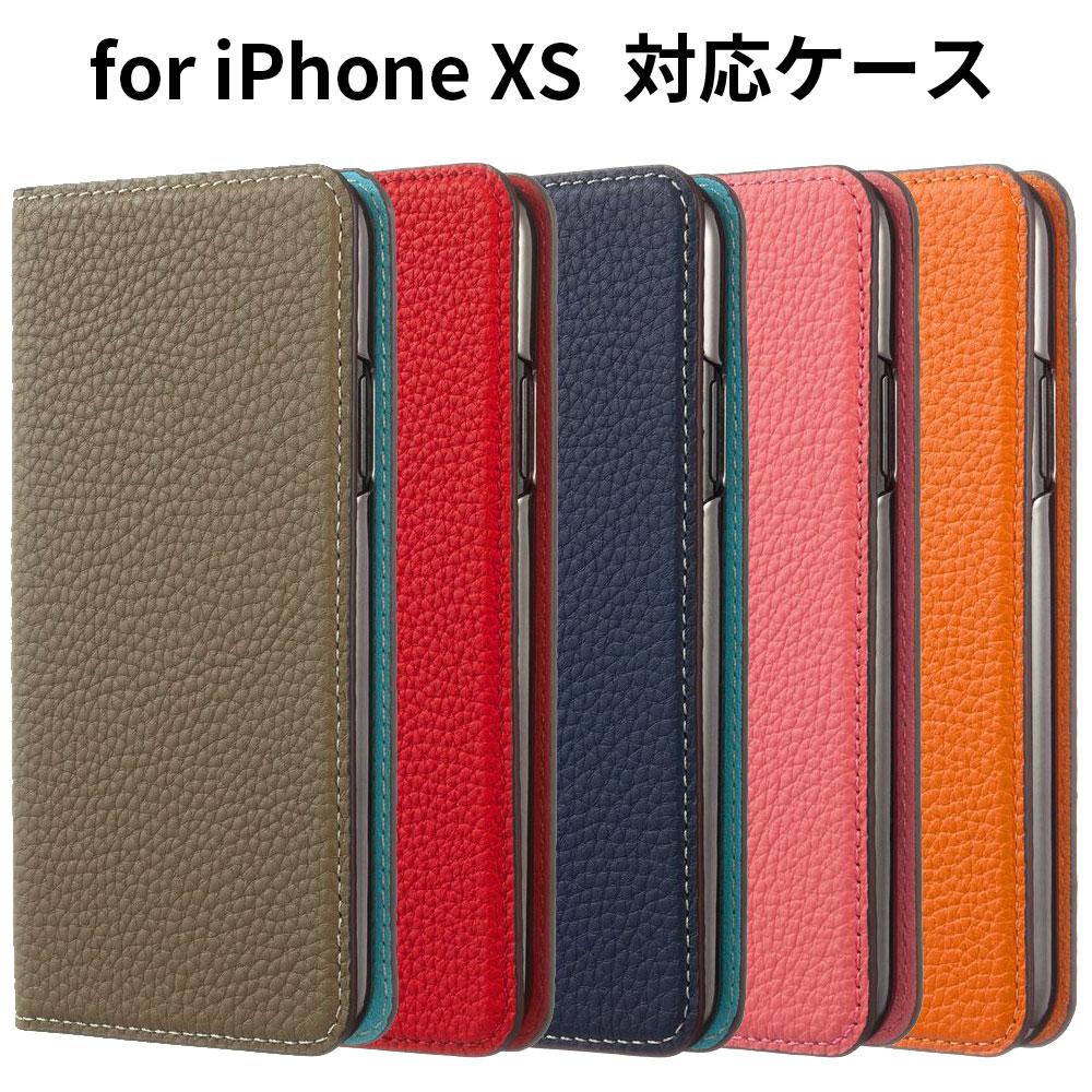 【正規販売代理店】LORNA PASSONI German Shrunken Calf Folio Case for iPhone X/XS