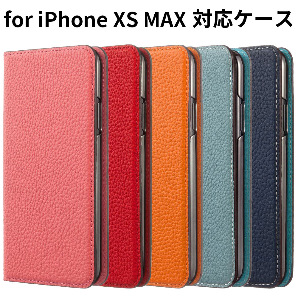 【正規販売代理店】LORNA PASSONI German Shrunken Calf Folio Case for iPhone XS Max