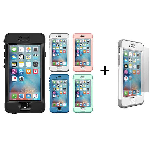 【正規販売代理店】 【安心補償サービス】【LIFEPROOF】nuud for iPhone 6s Plus + 強化ガラス液晶保護フィルム for nuud 6sPlus専用モデル 《 ライフプルーフ スマホ スマホケース アイフォン6 》 458039528