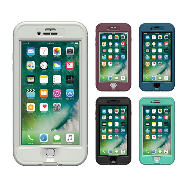 【正規販売代理店】 Lifeproof ライフプルーフ nuud for iPhone 7 Plus アイフォン7プラス用 耐衝撃ケース 全5色 耐衝撃 防水 防塵 ミルスペック IP68 指紋認証 補償サービス付 4580395