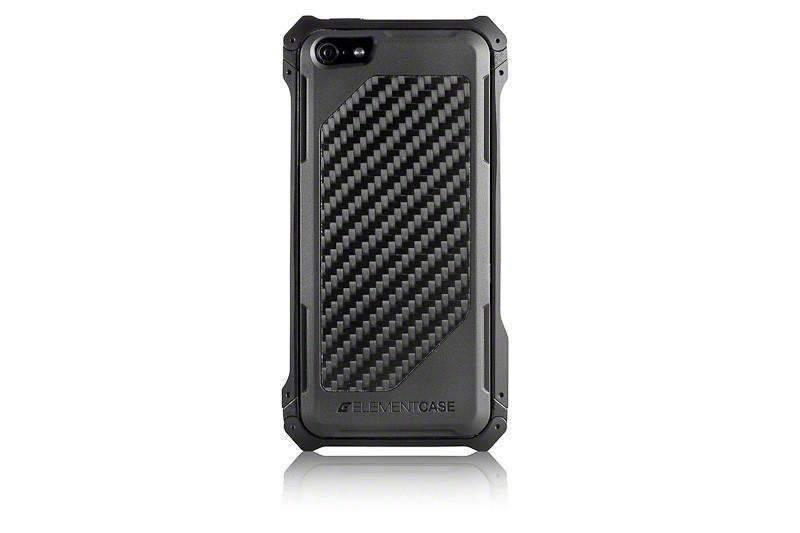 【正規販売代理店】 ELEMENTCASE エレメントケース Sector 5 Carbon Fiber Edition for iPhone 5 / 5s / SE アイフォン 5 / 5s / SE用 耐衝撃ケース Black 耐衝撃 軽量 スリム ミルスペック
