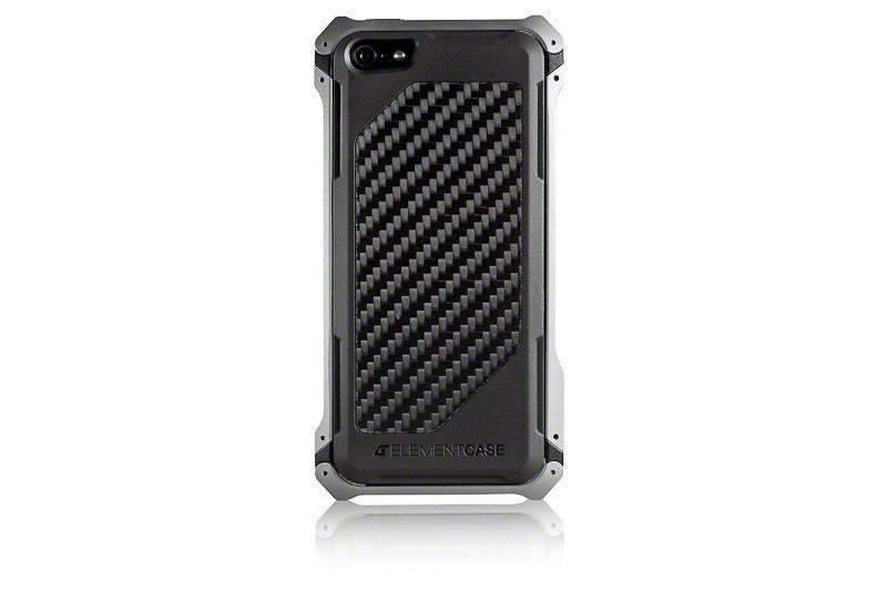 【正規販売代理店】 ELEMENTCASE エレメントケース Sector 5 Carbon Fiber Edition for iPhone 5 / 5s / SE アイフォン 5 / 5s / SE用 耐衝撃ケース Gun Metal 耐衝撃 軽量 スリム ミルスペック
