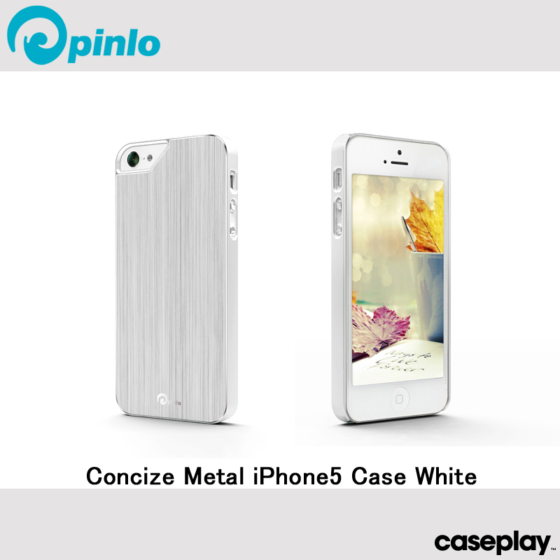 iPhone5 iPhone5s 케이스 Concize Metal White 안녕 사이즈 메탈 화이트 for iPhone5 iPhone5s iPhone SE케이스케이스프레이핀로