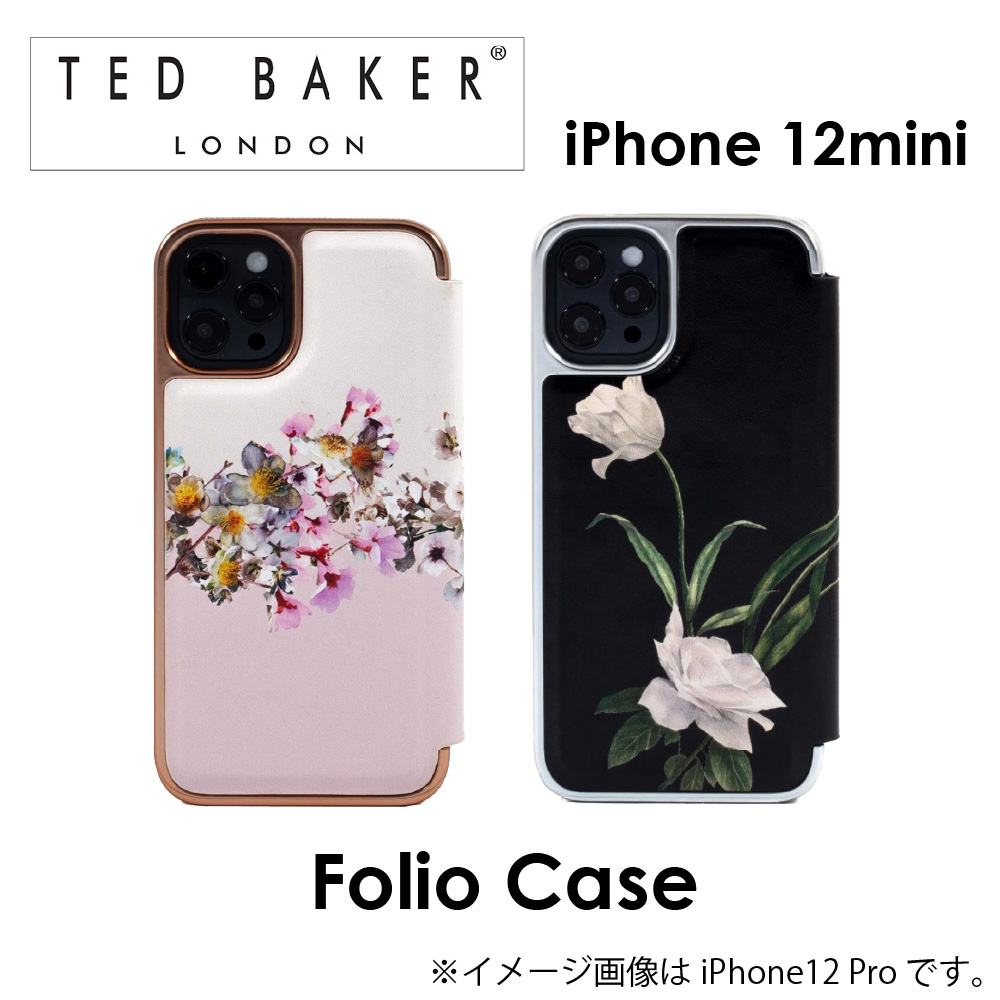 Ted Baker iphone12mini ケース テッドベーカー FOLIO CASE