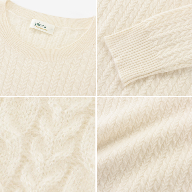 Cashmee Quot Cashmee 215 Picea Baby Cashmere 100 Unisex Cable Knit Crew Neck Sweater From 5 Color Knit Women S Fashion Cashmere Simple Basic