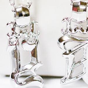 メンズイニシャル ペンダント ネックレス シルバー ROCK&GOTHIC イニシャル ペンダント ネックレス[A][C][D][E][F][H][I][J][K][M][N][R][S][T][Y]/メンズ/アクセサリー/誕生日クリスマスプレゼント