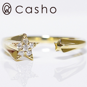 ツインスター フォークリング ダイヤモンド ホワイトゴールド/ピンクゴールド/イエローゴールドK10WG/K10PG/K10YG/K18/PT900製作TWIN STAR FORK RING DIAMOND 誕生日クリスマスプレゼント