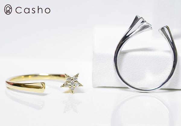 K10WG,PG,YG (白色、 粉紅色、 黃色) 雙子星叉環鑽石雙子星叉環由 /K18 提供的鑽石